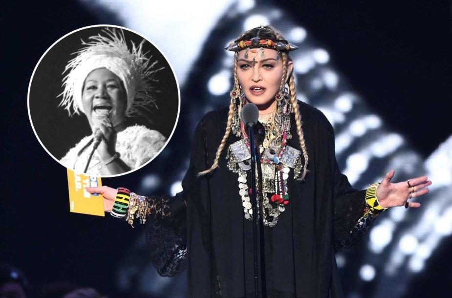 Madonna per MTV apdovanojimus sakė kalbą apie mirusią Arethą Franklin