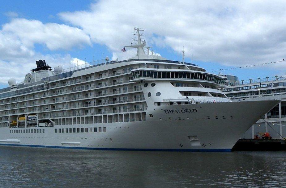 """""""The World"""" yra unikalus 196,35 metrų ilgio kruizinis laivas"""