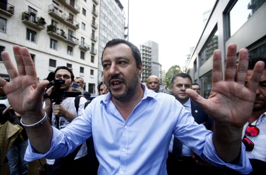 Šiaurės lygos lyderis Matteo Salvini