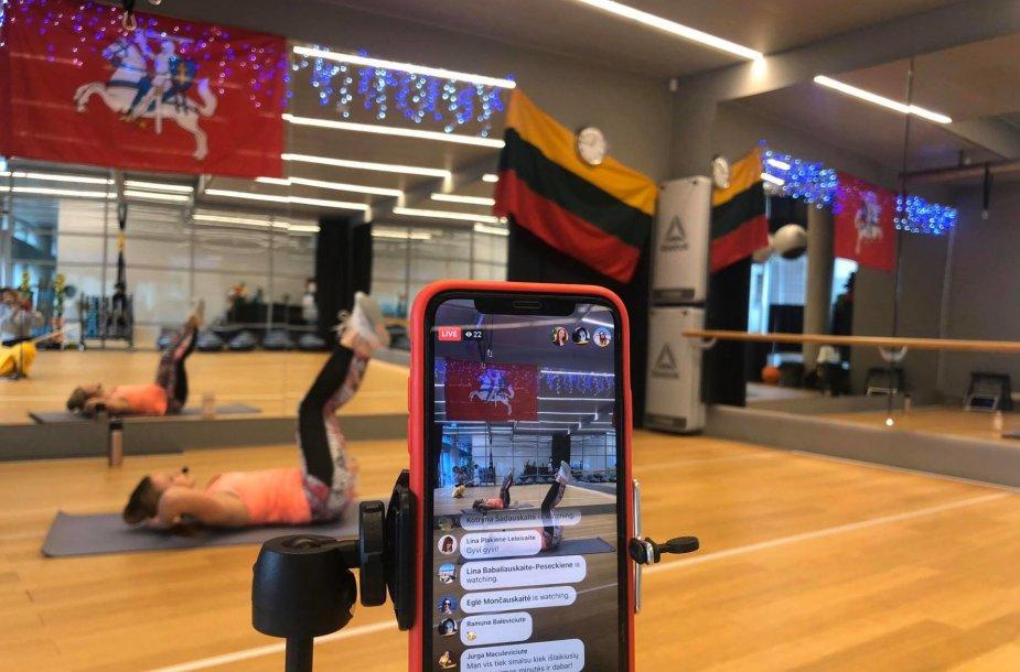 """Sporto studijos """"The one"""" virtualios treniruotės"""