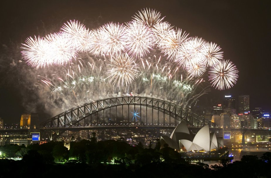 2014 metų sutiktuvių fejerverkai Sidnėjuje