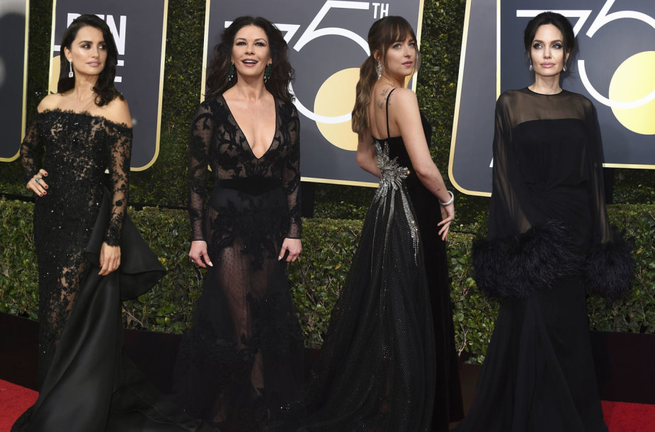 Penelope Cruz, Catherine Zeta-Jones, Dakota Johnson ir Angelina Jolie