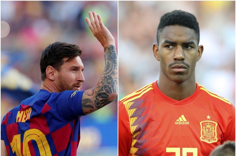 Junioras Firpo (dešinėje) atsiprašė L.Messi už kvailas žinutes apie jį.