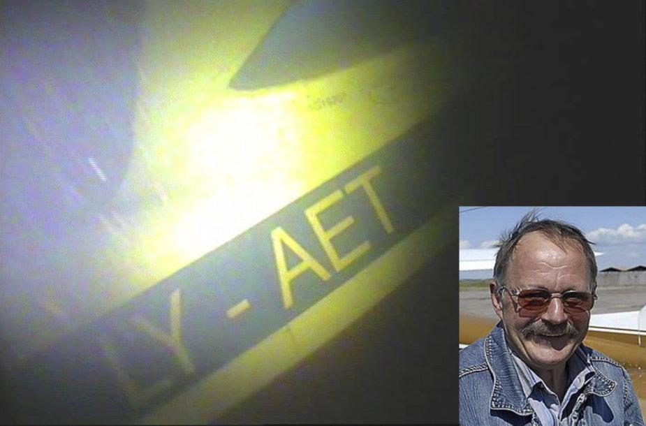 Povandeninės kameros sudužusiame lėktuve užfiksavo piloto A.Mačiulio kūną
