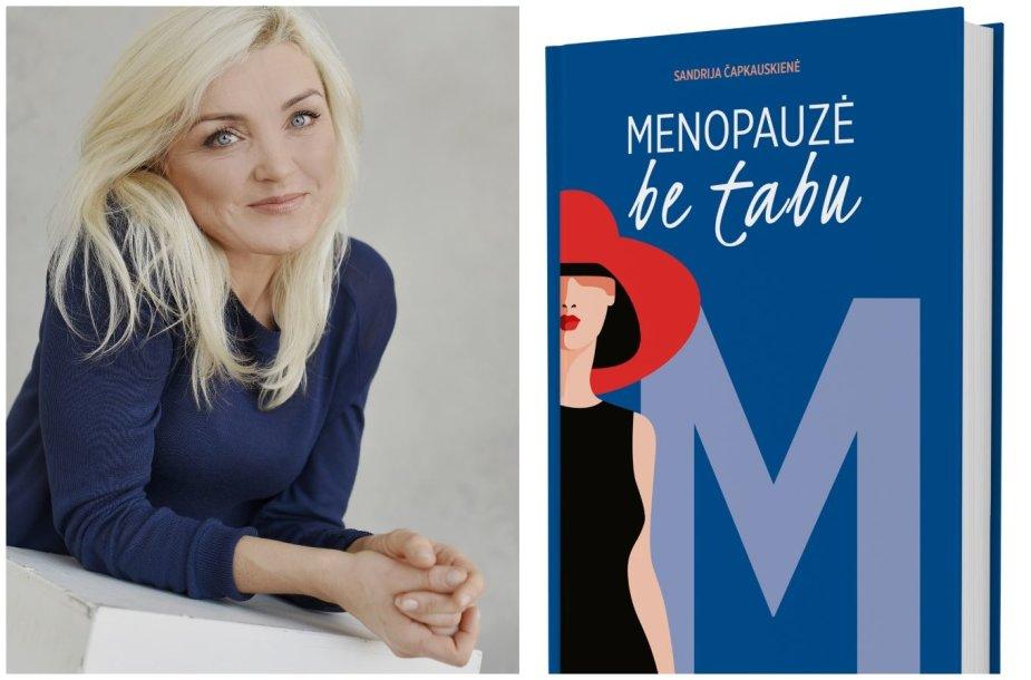 Biomedicinos mokslų daktarė Sandrija Čapkauskienė ir jos knygos viršelis