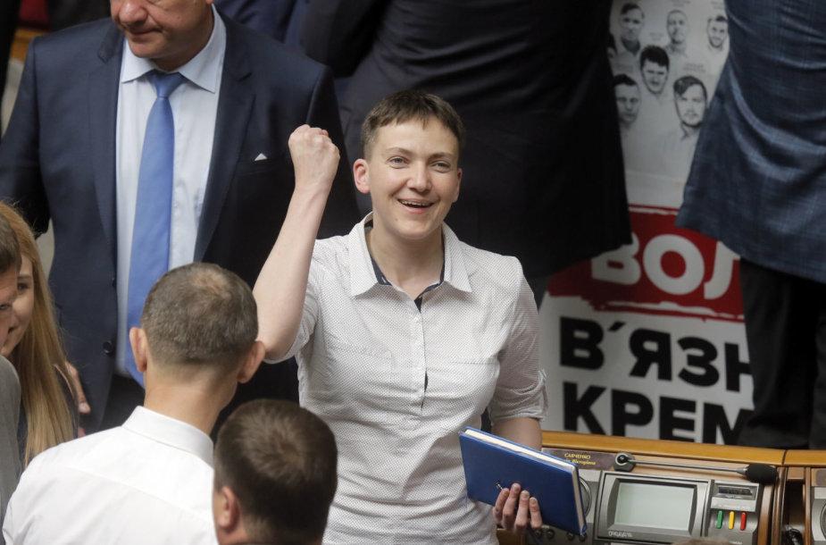 Nadija Savčenko Aukščiausiojoje Radoje