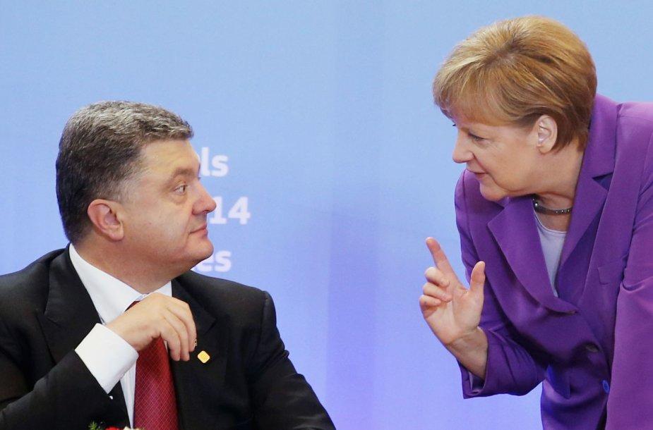 Angela Merkel ir Petro Porošenka
