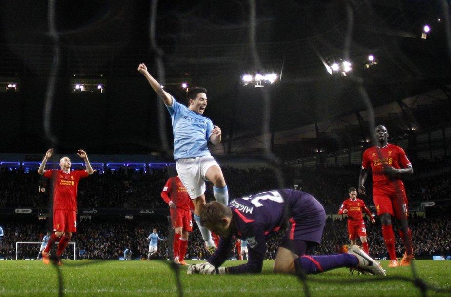 """Manchester City"" pergalė prieš ""Liverpool"""