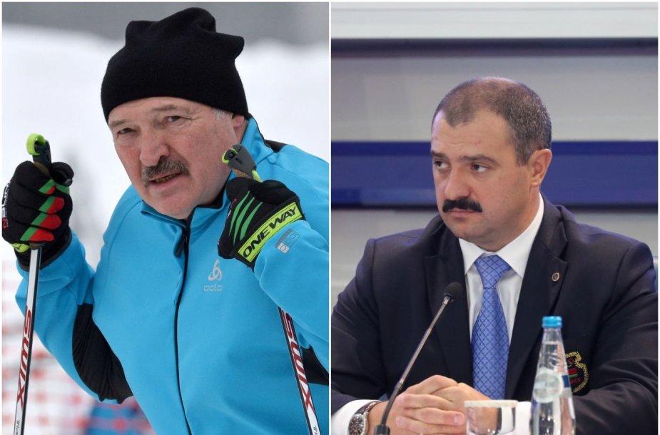 Aleksandras Lukašenka – Baltarusijos olimpinio komiteto  prezidentas, jo sūnus Viktoras Lukašenka (dešinėje) – pirmasis viceprezidentas.