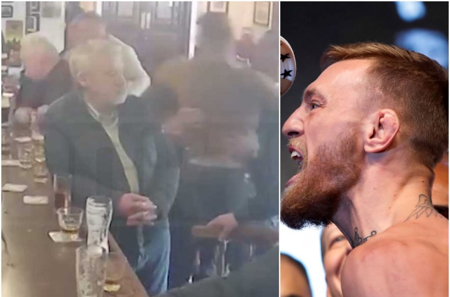 Conoras McGregoras nesivaldė Dublino bare.
