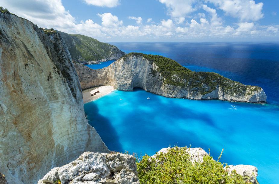 Navagio paplūdimys Zakinto saloje, Graikijoje