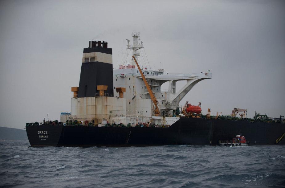 """Iraniečių naftą gabenęs tanklaivis """"Grace 1"""""""