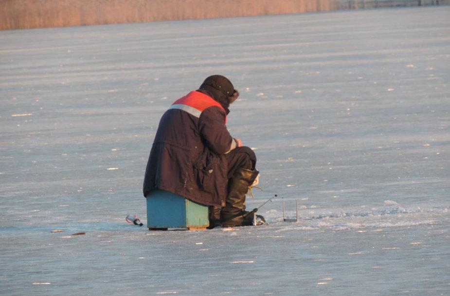 Ant Trakų ežero ledo