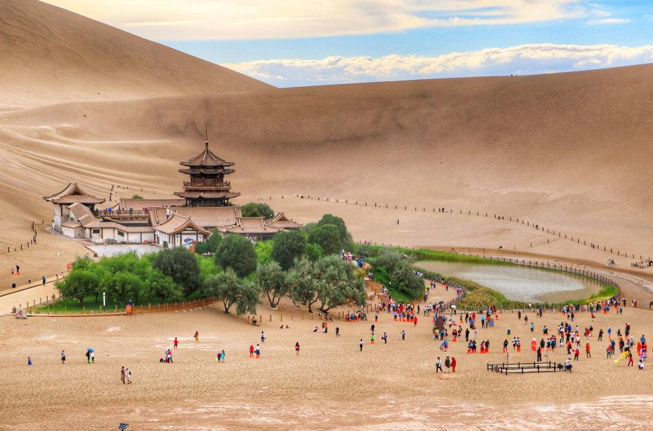 Pusmėnulio ežeras, Kinija