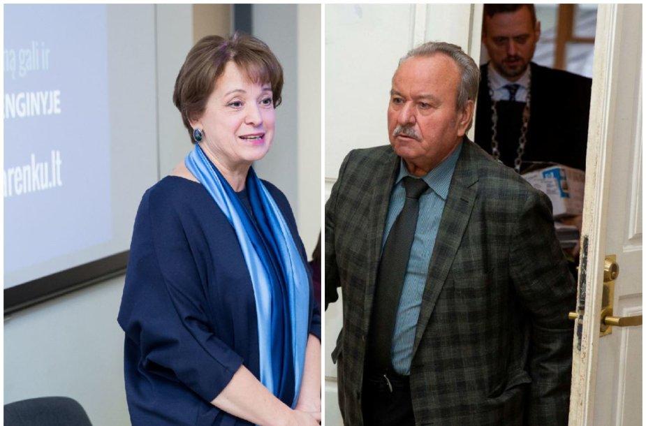Vilija Aleknaitė-Abramikienė ir Bronius Bardauskas