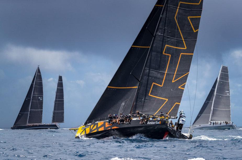 """Ambersail 2"" jachta Karibų ""Les Voiles de St. Barth"" regatoje"