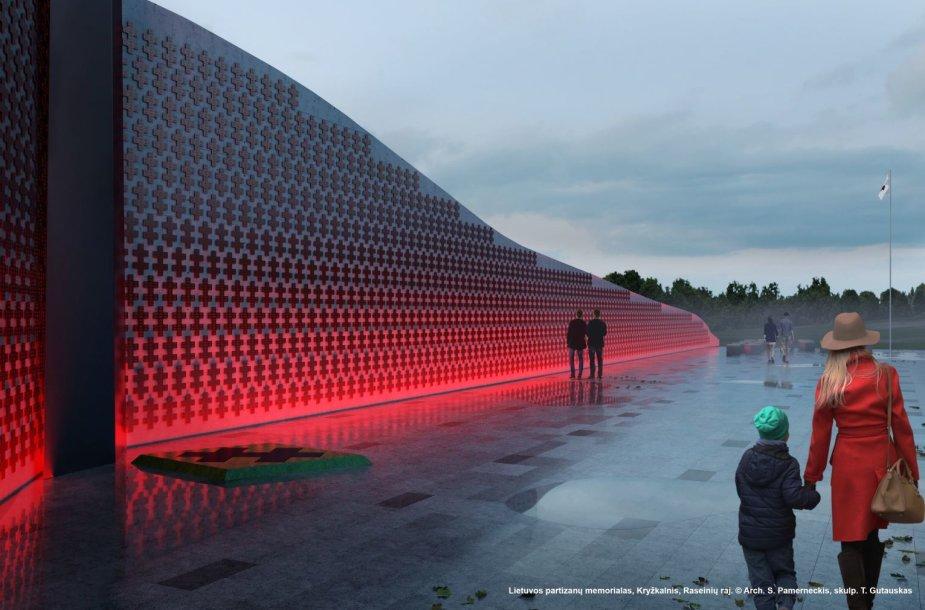 Kryžkalnio partizanų memorialas