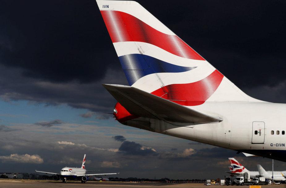 """""""British Airways"""" Londono oro uoste"""