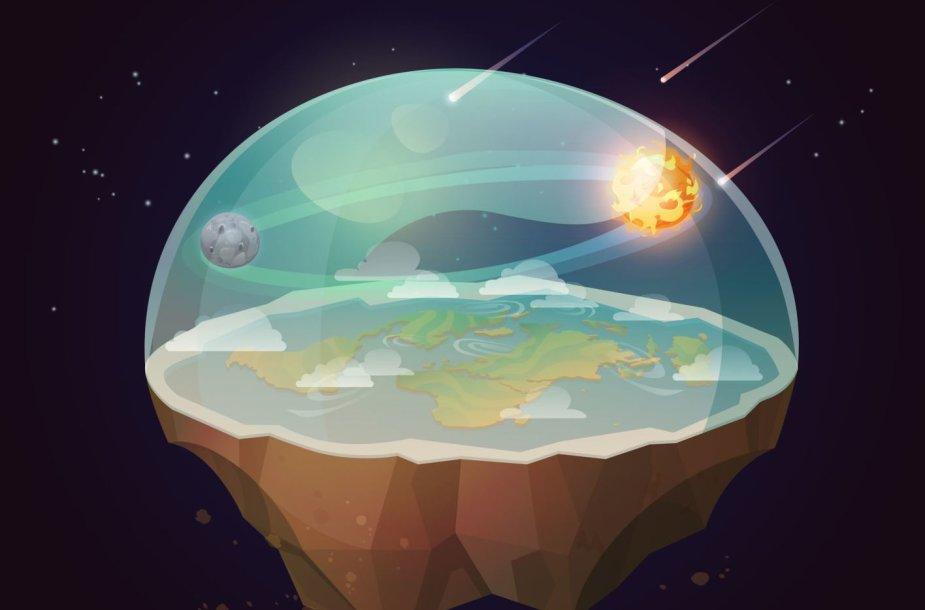 Kažkam atrodo, kad Žemė iš tiesų atrodo štai taip