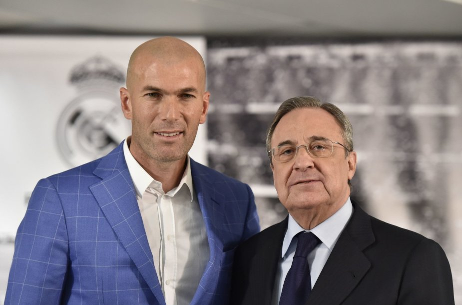 Zinedine'as Zidane'as ir Florentino Perezas