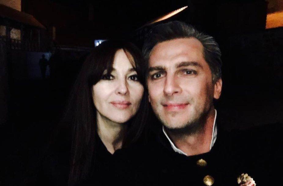 Mantas Vaitiekūnas ir Monica Bellucci