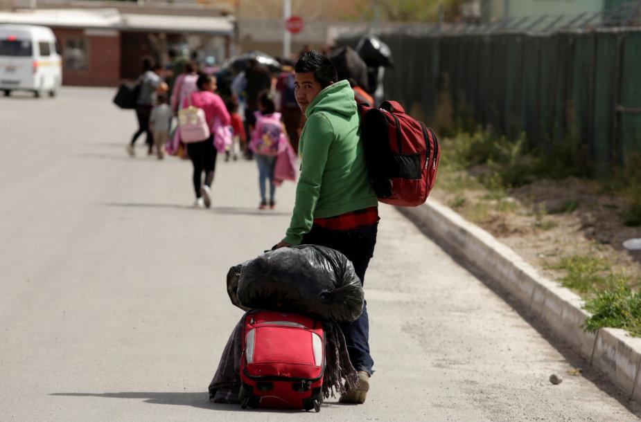 Migrantai Meksikoje