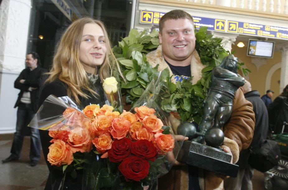 Žydrūnas Savickas ir Jurgita Vorobjovaitė 2008 metais
