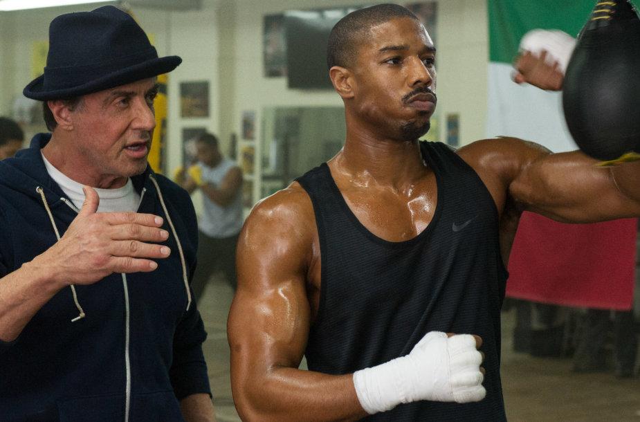 """Sylvesteris Stallone ir Michaelas B.Jordanas filme """"Krydas: gimęs kovoti"""""""