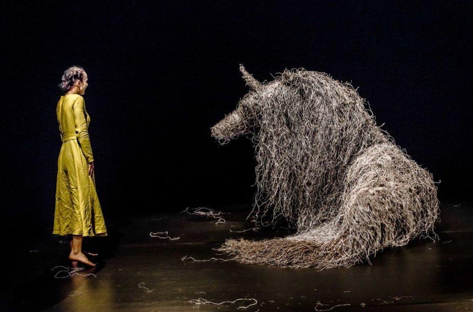 """Spektaklio """"Virginia Wolf"""" akimirka"""