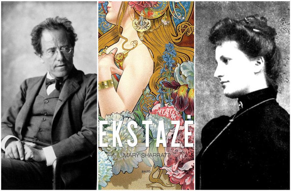 """Gustavas Mahleris ir jo žmona Alma bei knygos """"Ekstazė"""" višelis"""