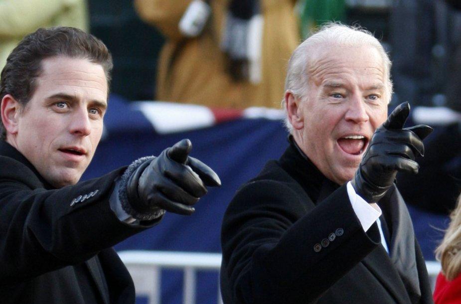 Joe Bideno sūnus Hunteris įkliuvo dėl narkotikų