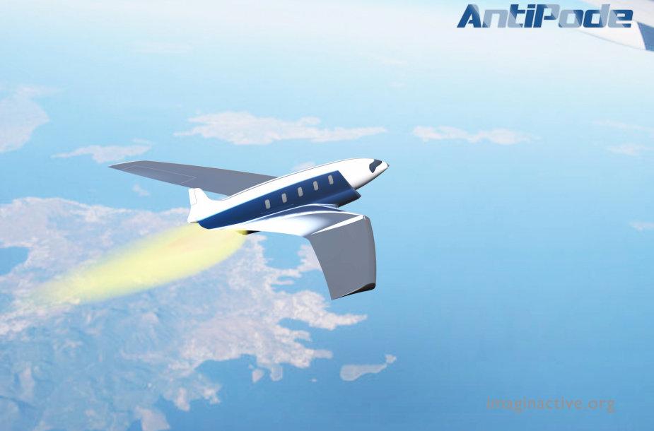 "Viršgarsinio lėktuvo ""Antipodo"" konceptas"