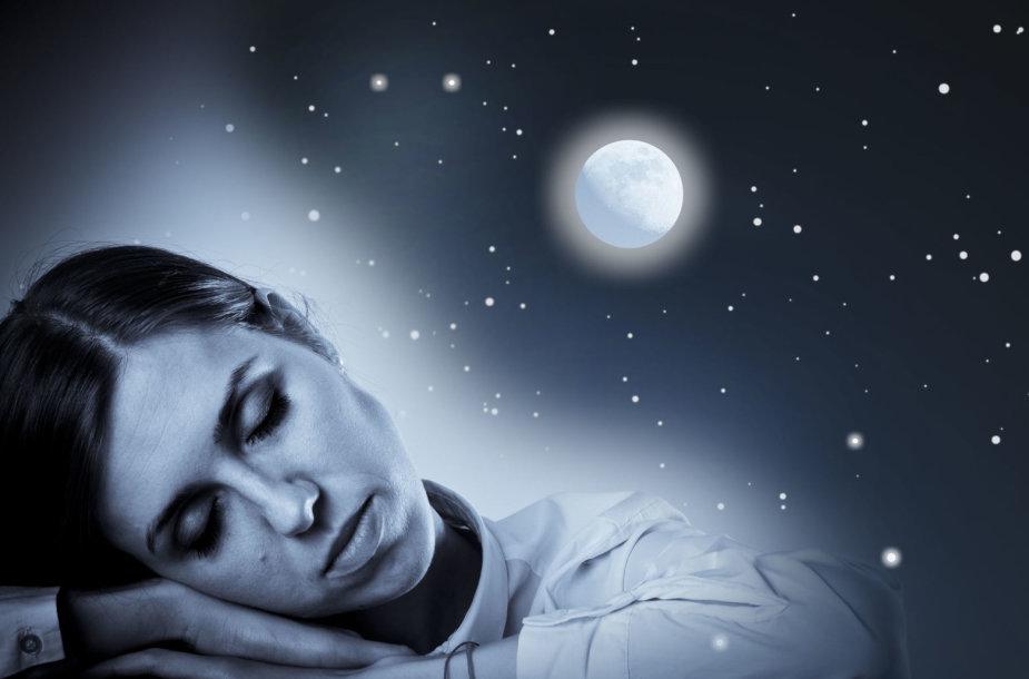 Miegas pilnaties metu