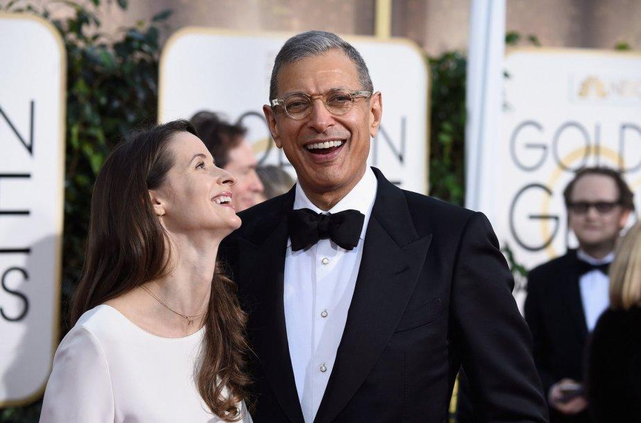 Jeffas Goldblumas su žmona Emilie Livingston