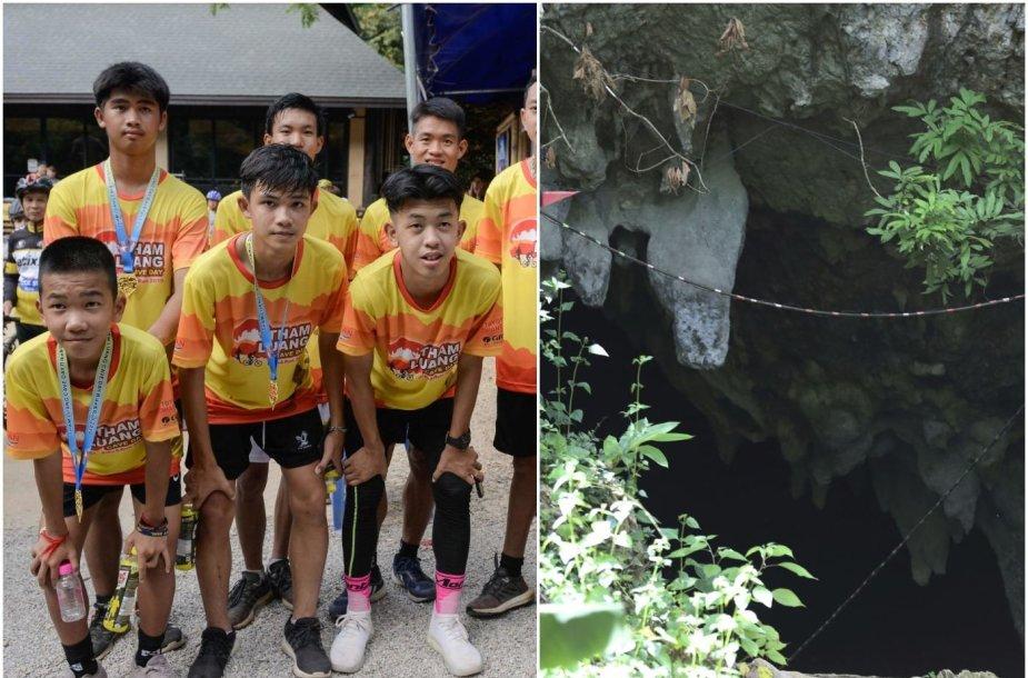"""""""Laukinių šernų"""" futbolo komanda minėjo išgelbėjimo iš užtvindyto urvo Tailande metines."""