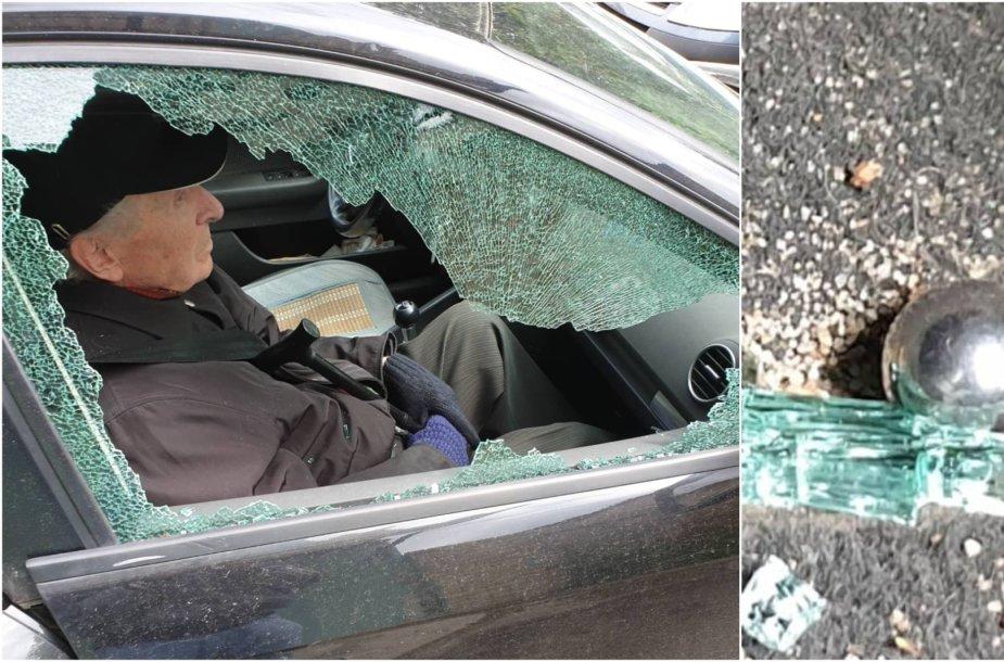 Pasistatęs mašiną Kauno centre kaunietis sulaukė šūvių į langą