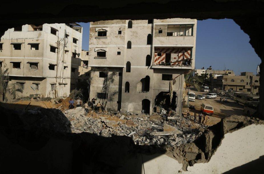 Izraelio oro atakos padariniai Gazos Ruože