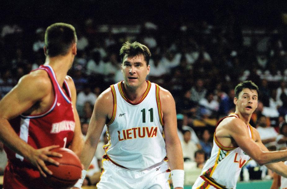 Arvydas Sabonis 1996 rugpjūtį Atlantos olimpinėse žaidynėse