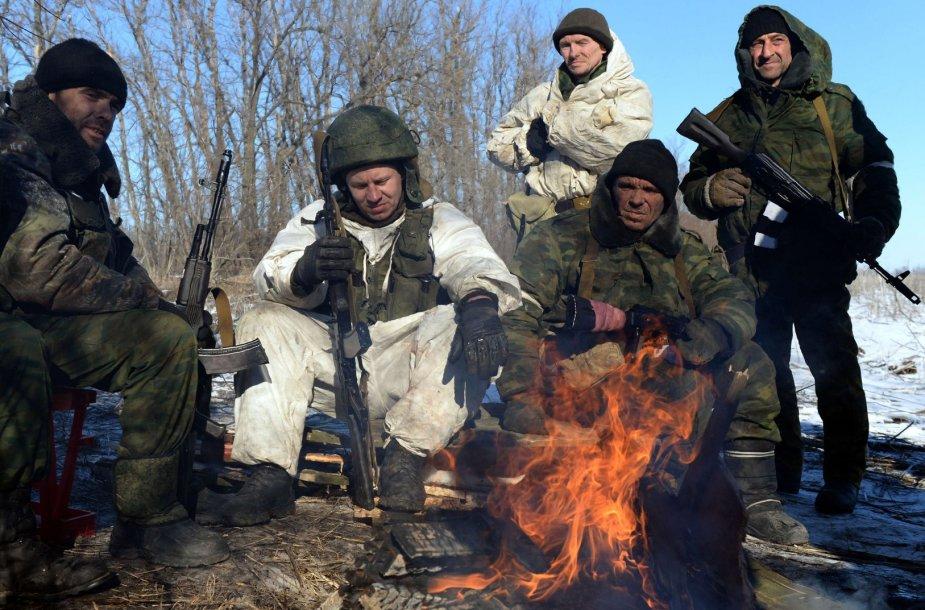 Rusijos remiami teroristai netoli Debalcevės