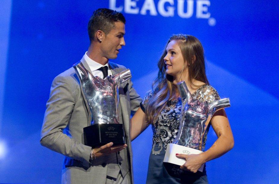 Cristiano Ronaldo ir Lieke Martens