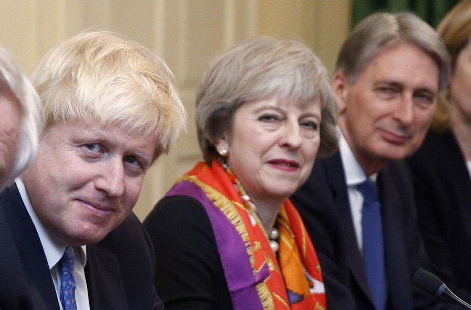 Borisas Johnsonas, Theresa May ir Phillipas Hammondas