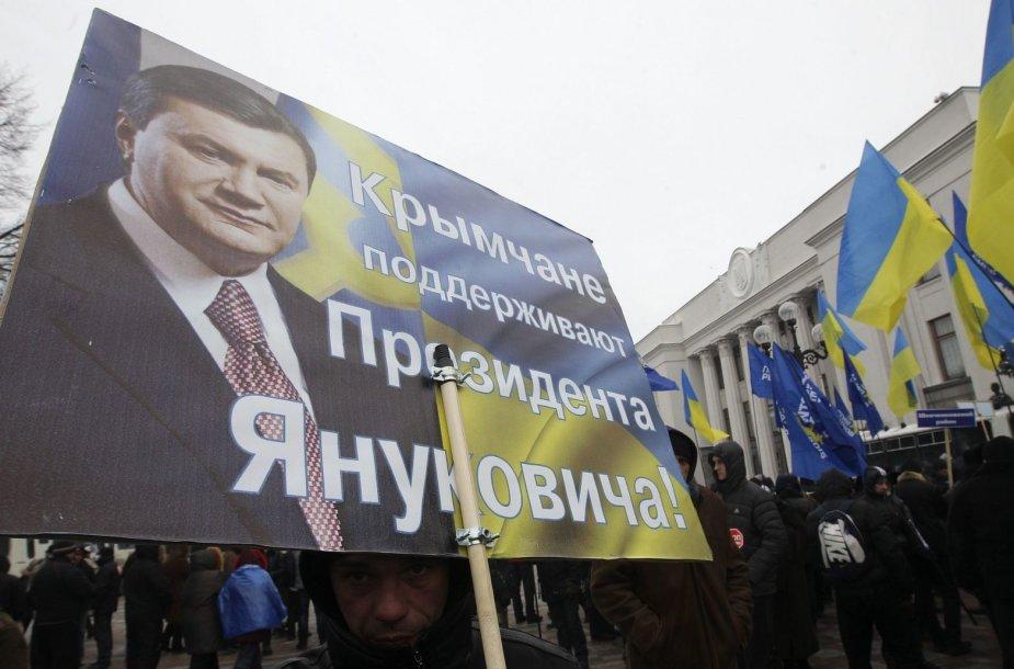 V.Janukovyčiaus šalininkai Kryme