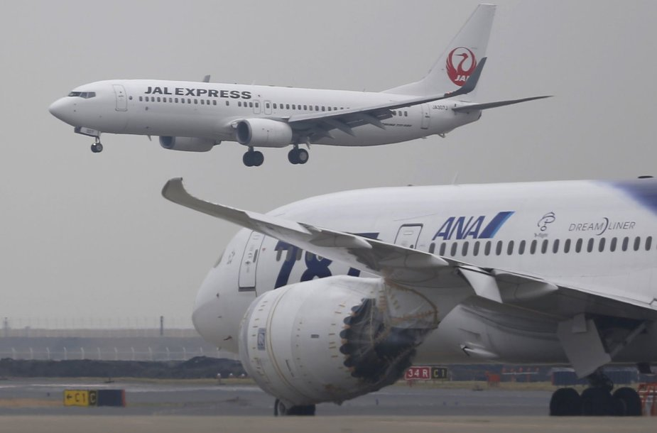 "JAV gamybos lėktuvas ""Boeing 787 Dreamliner"""