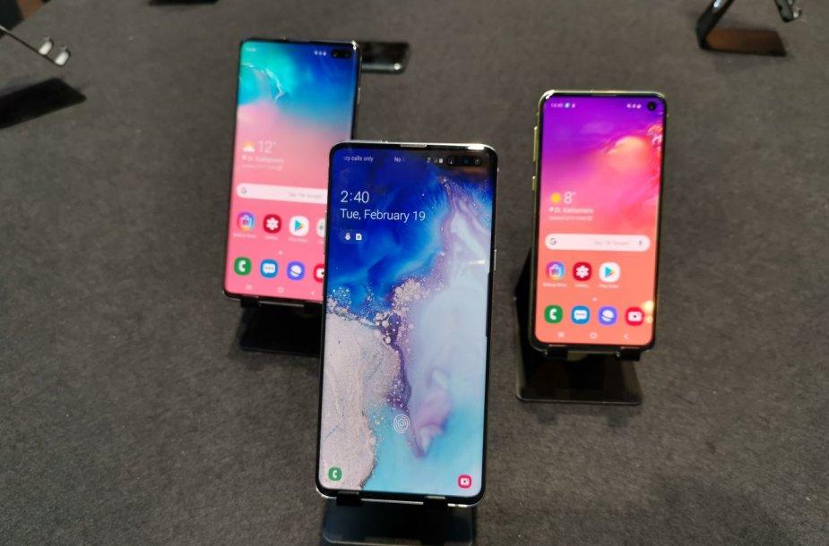 """""""Samsung Galaxy S10"""" telefonų serija"""