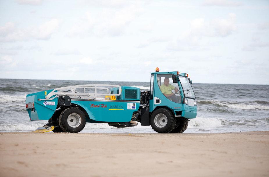 Palangos smėlio valymo mašina