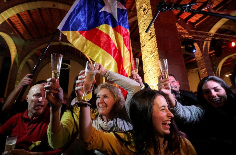 Katalonai reaguoja į rinkimų rezultatus
