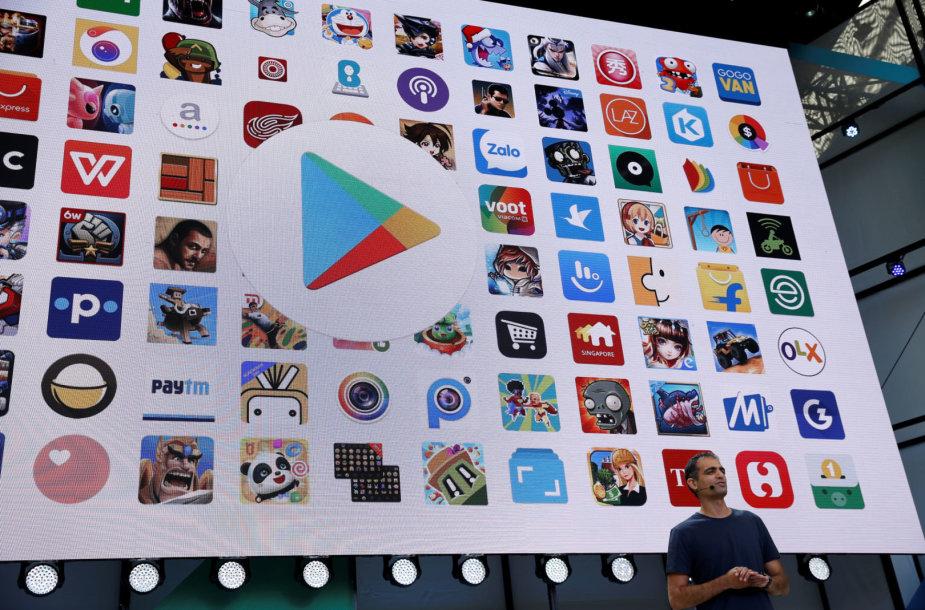 """Programėlių parduotuvė """"Google Play"""""""