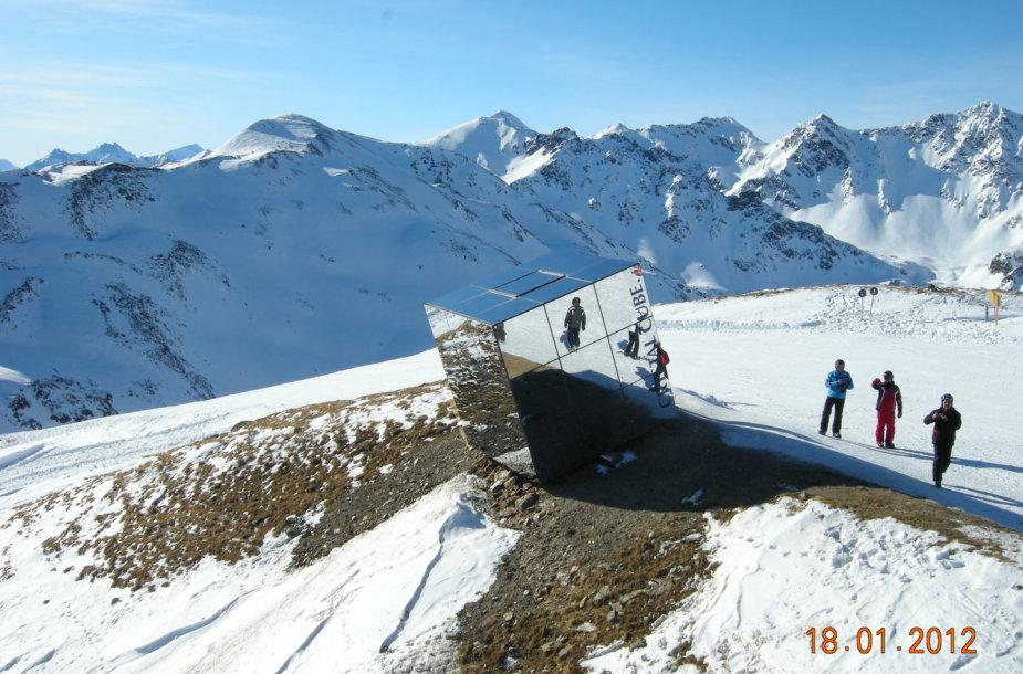 Slidinėjimas Austrijoje, kurorte Serfaus-Fiss-Ladis