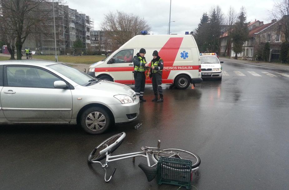 Šilutėje partrenkta dviratininkė.