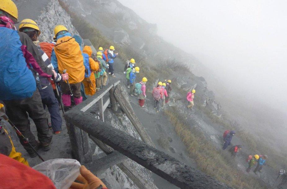 Japonijoje išsiveržė ugnikalnis.